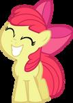 Happy Smiling Applebloom Vector