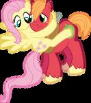 Fluttershy and Big Mac - Eeeep!