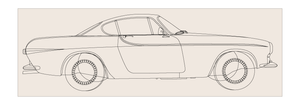65 Volvo P1800 Outline by ekster