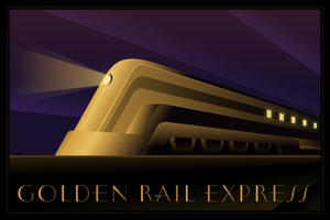Golden Rail Express by ekster