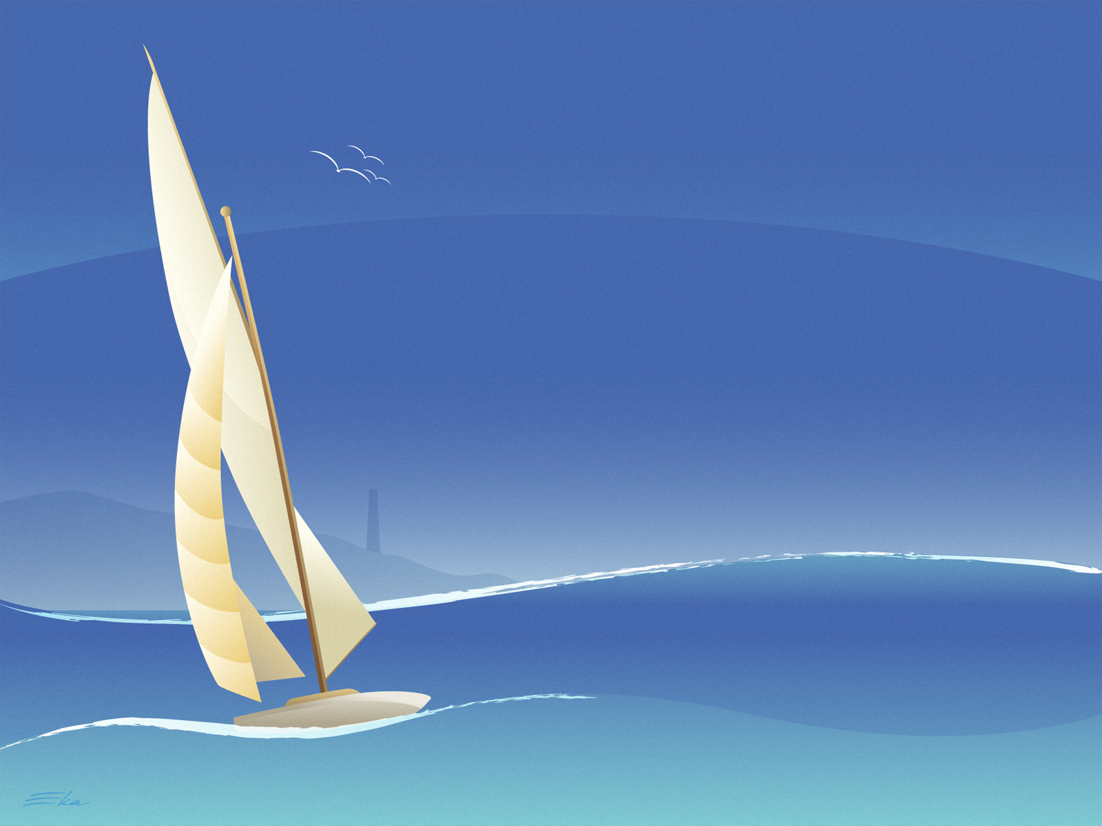 Sailing in Blue by ekster