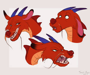 Mushu Sketches by Salt-Dog