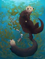 Playful Ocean + Speedpaint by Salt-Dog