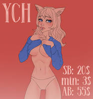 (OPEN 3 days) YCH#19 Shy girl by RinaZahes