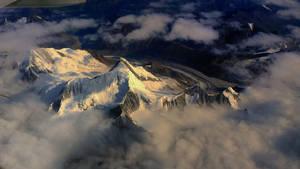 Snow Mountain under sun