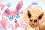 Sylveon and Eevee