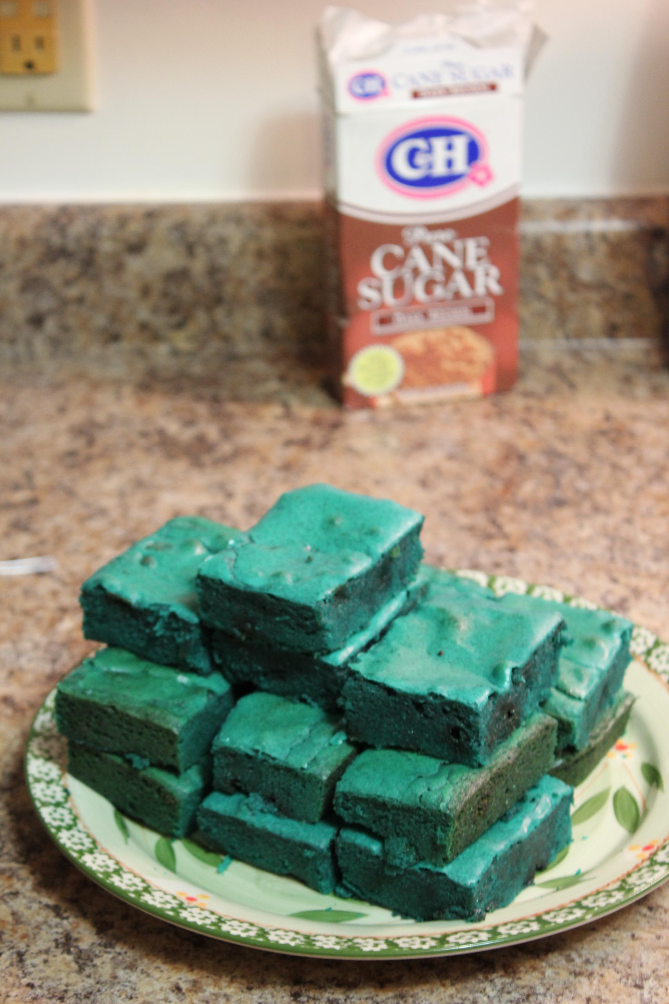 Blue Cake Mix Brownies Recipe