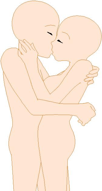 Kissing Anime Base By Gumnutbunny On Deviantart
