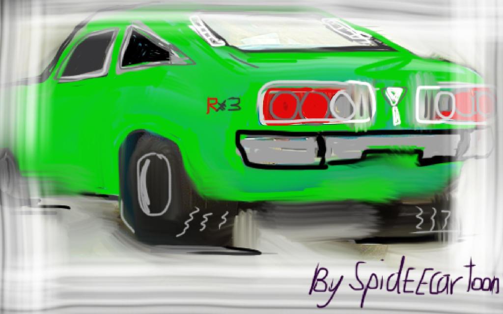 Mazda RX3koop by Spideecartoon