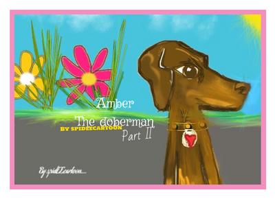 Amber outside by Spideecartoon