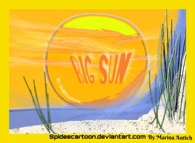 Big sun by Spideecartoon