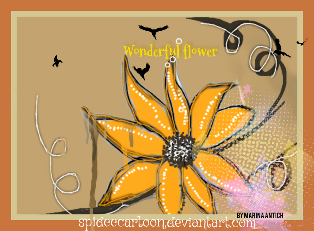 Wonderful flower by Spideecartoon