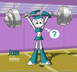 Jenny Robot lifting weights