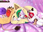 Sleeping Siblings by bnkthecreator