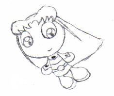Floating CHIBI Starfire 2005 by OzzieScribbler