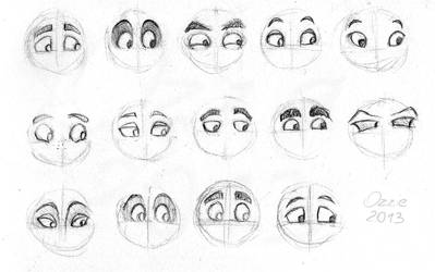 Eye variety study by OzzieScribbler