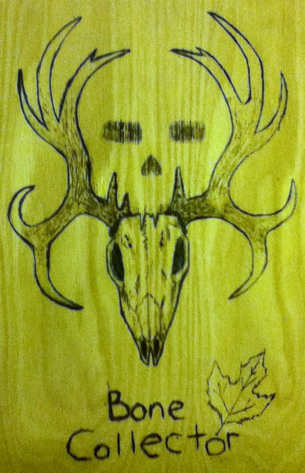 Bone Collector Wood Burn By Kitsunefire7