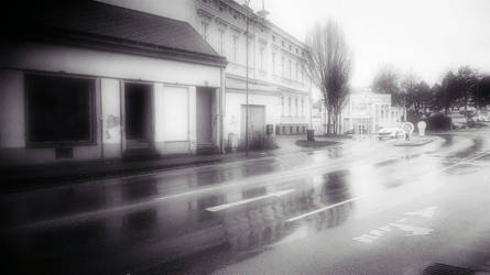 gray blurry streets