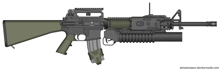 M16A4 + M203 combo Olive by ShadowBuster2010 on DeviantArt M16a4 M203