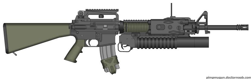 M16A4 + M203 combo Oli...