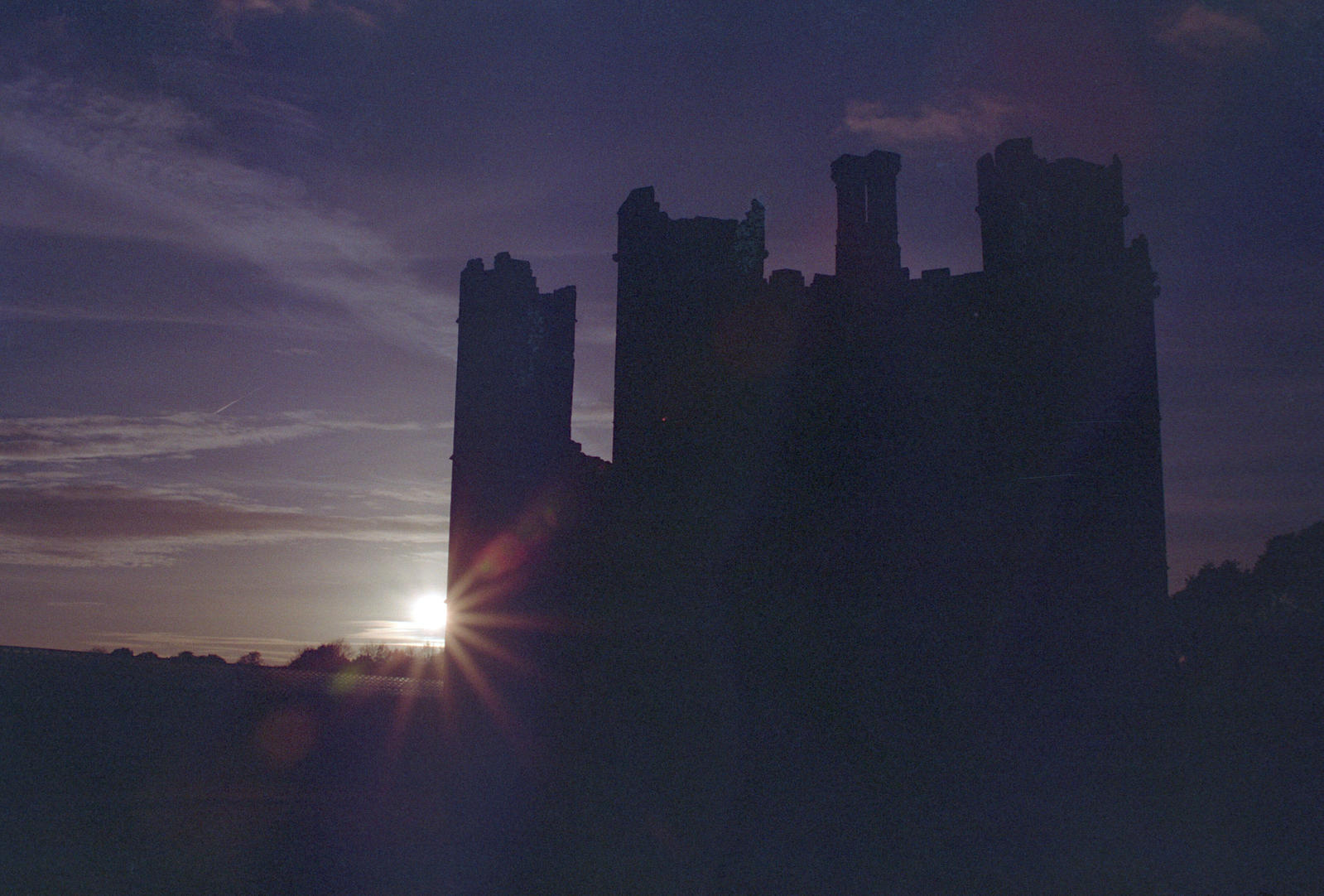 Silhouetted abbey
