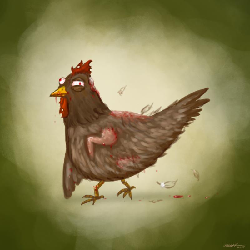 Daily Art Challenge #119: Zombie Chicken