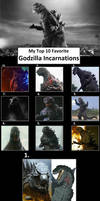 My Top 10 Favorite Godzilla Incarnations