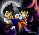 Chibi Goku vs. Chibi Vegeta