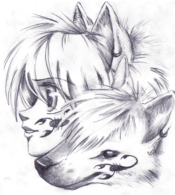 Manga girl with wolf by renchee on deviantart manga girl with wolf by renchee ccuart Choice Image