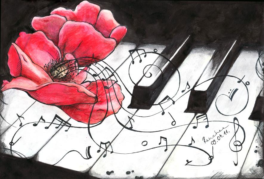 Нарисую на открытке песня