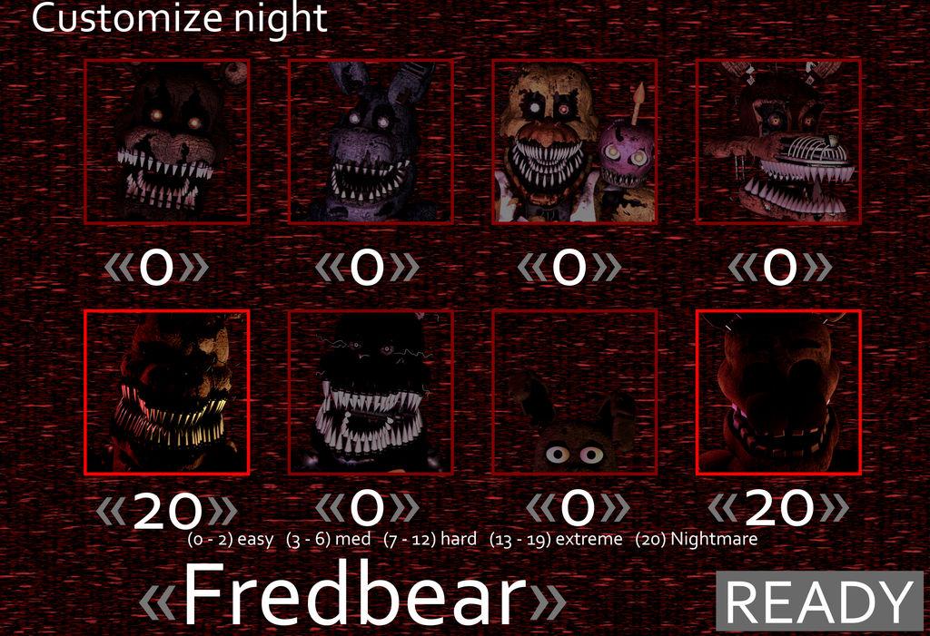 FNaF 4 Custom Night by Gangalf on DeviantArt