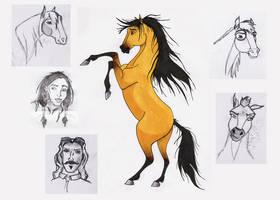 Spirit Sketches by Gaurdianax