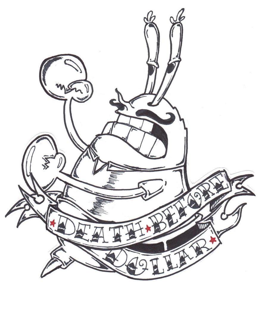 vintage mr krabs tattoo by thewickedrobot on deviantart