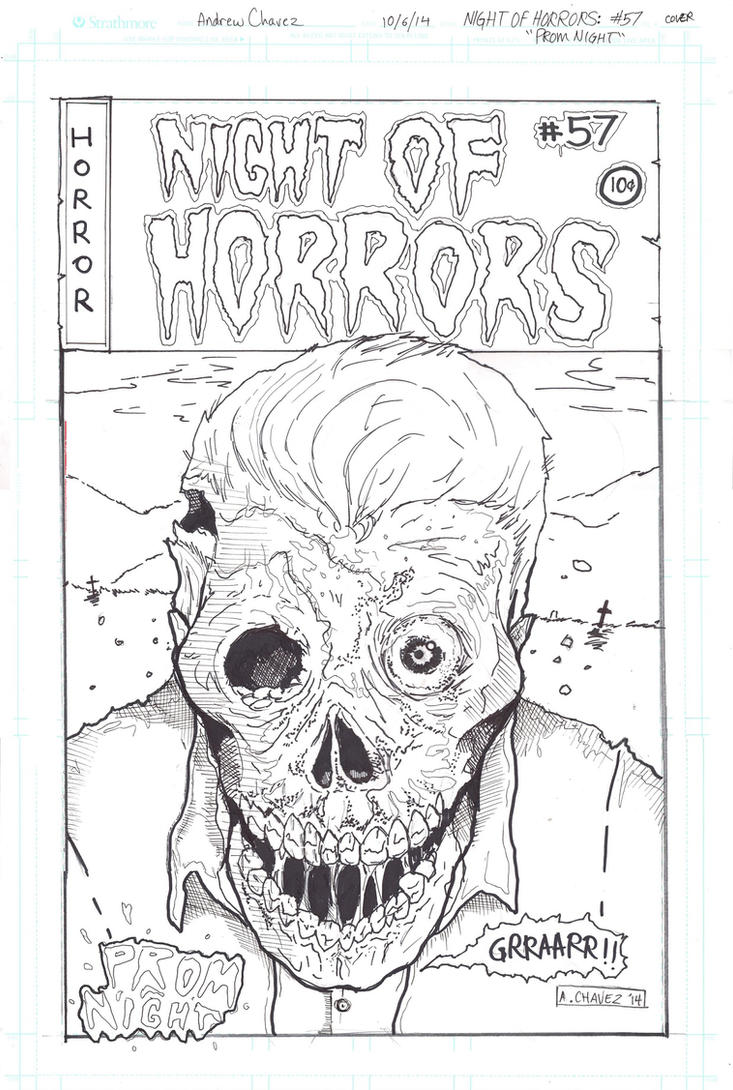 Night of Horrors #57 Rough Cover by thewickedrobot
