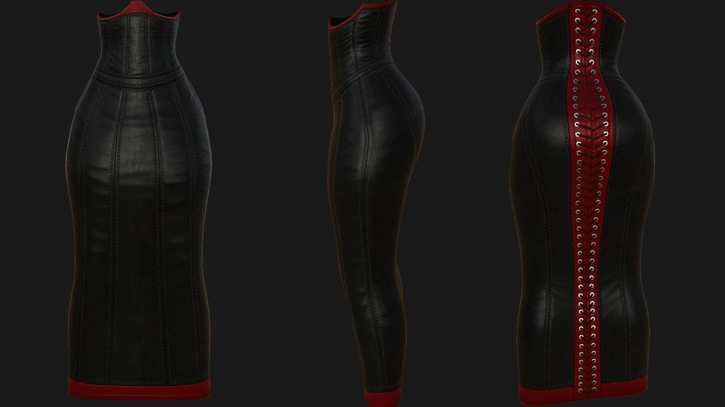 Hobble Dress WIP 01