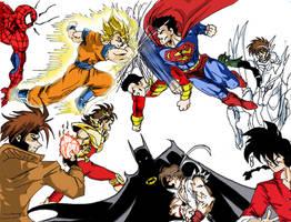Crossover - Anime vs Comic by sliver64