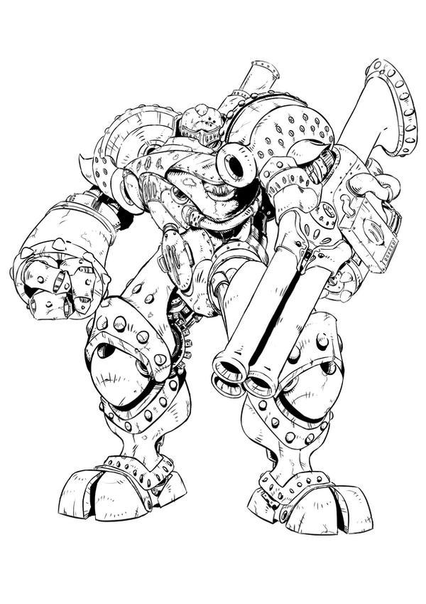 Steampunk Mecha Revision by NinjaCheese