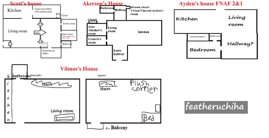 Oc House Layout Maps Fnaf By Featheruchiha On Deviantart