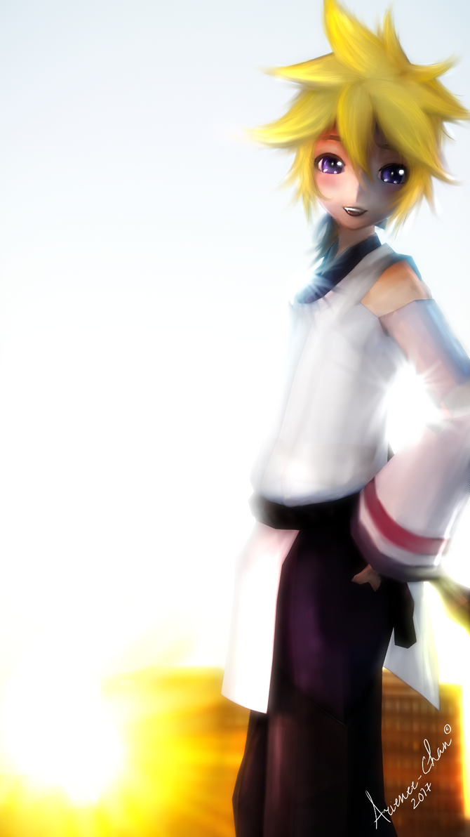 |MMD| Blue Fox Len - The sun is going to sleep.. by Arienee-Chan