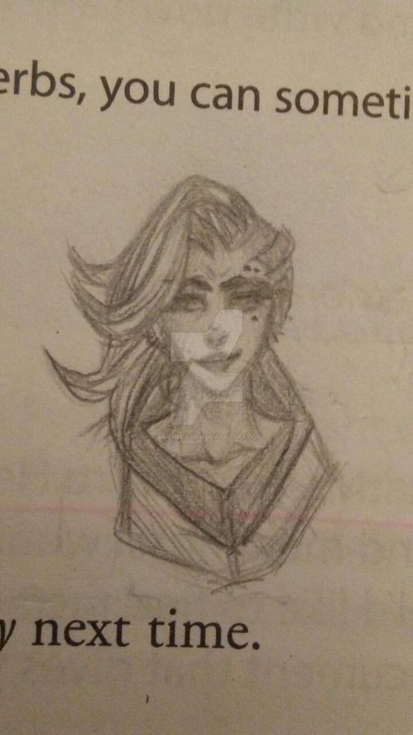 Overwatch Sombra (shitty doodle) by Arienee-Chan