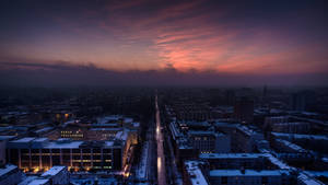 Berlin, dawn of a wintery day by abuethe