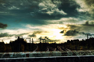 Tracks and chimneys by abuethe