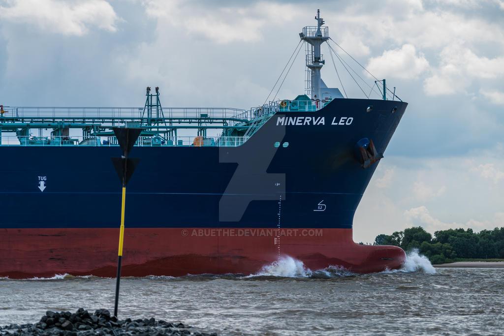 Cargoship near Hamburg Blankenese by abuethe