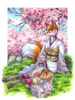 Fallen Blossom by wielderofthewind