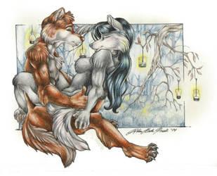 Fancia And Shadowfire by wielderofthewind