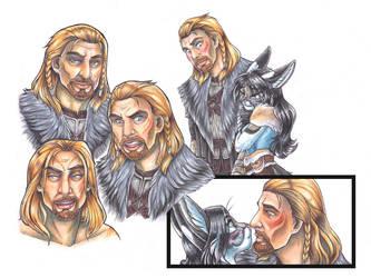 Skyrim: Ulfric Stormcloak Studies by wielderofthewind