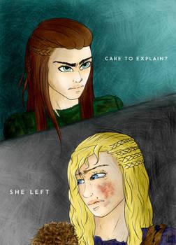 She left.