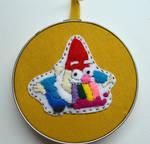 Gnome Barfing Rainbows Hoop by kayzebra