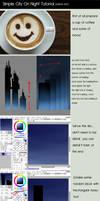 City On Night Tutorial [Paint Tool SAI]