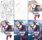 Ikou! drawing process